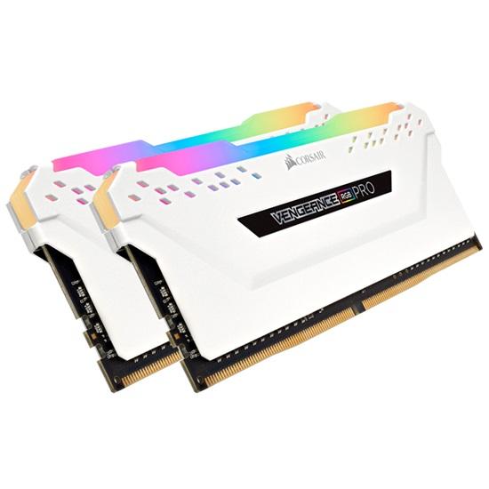 Corsair RAM VENGEANCE RGB PRO White DDR4 3200MHz 32GB Kit (2 x 16GB) (CMW32GX4M2C3200C16) (CORCMW32GX4M2C3200C16)