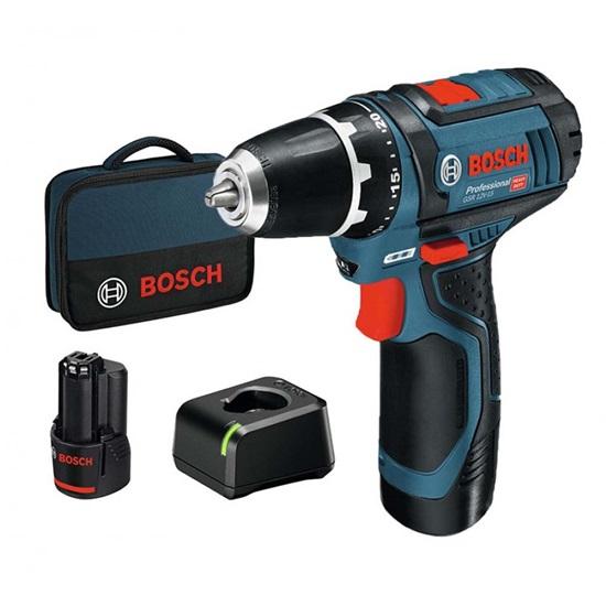Επαναφορτιζόμενο Δραπανοκατσάβιδο Bosch GSR 12V-15 12V 2x2Ah (060186810F) (BSHGSR12V-15)