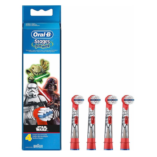 Ανταλλακτικά Oral-B Toothbrush Heads Stages Power Star Wars 4τμχ (BRASTARWARS4)