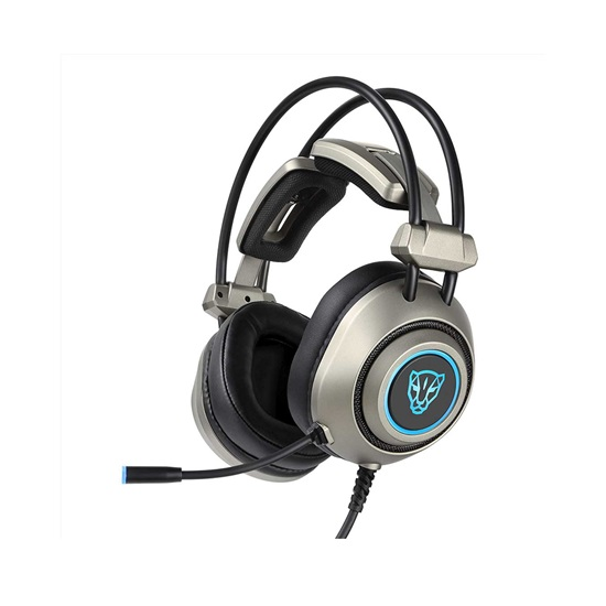 Motospeed H19 Grey Wired Gaming Headset Grey Color