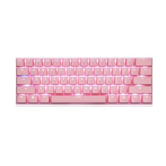 Motospeed CK62/K62 Pink Bluetooth Mechnical Keyboard Rgb Blue Switch GR Layout