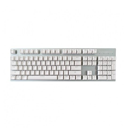 Motospeed GK89 White Wireless Mechanical Keyboard Ice Blue Backlit Red Switch Gr Layout
