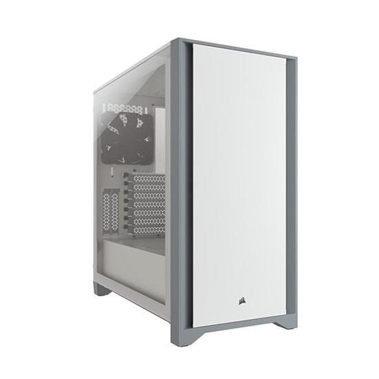 Corsair 4000D Tempered Glass Mid-Tower ATX Case — White (CC-9011199-WW) (CORCC-9011199-WW)