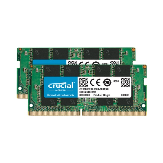 Crucial RAM 32GB Kit (2 x 16GB) DDR4-2666 SODIMM (CT2K16G4SFRA266) (CRUCT2K16G4SFRA266)