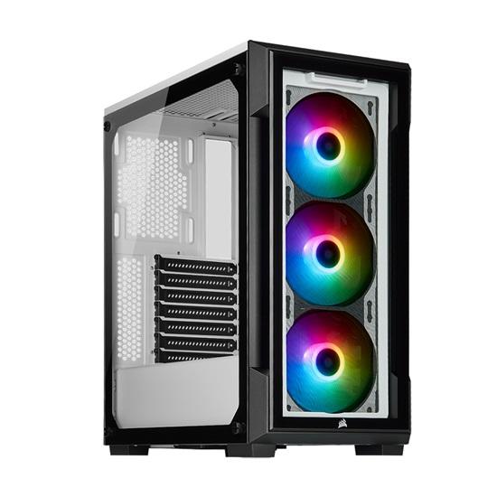 Corsair iCUE 220T RGB Tempered Glass Mid-Tower Smart Case — White (CC-9011191-WW) (CORCC-9011191-WW)