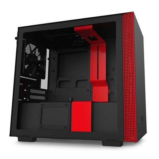 NZXT H210 CAM-powered Premium Mini-ITX Case Matte Black-Red (CA-H210B-BR) (NZXTCA-H210B-BR)