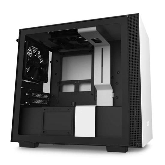 NZXT H210 CAM-powered Premium Mini-ITX Case Matte White-Black (CA-H210B-W1) (NZXTCA-H210B-W1)