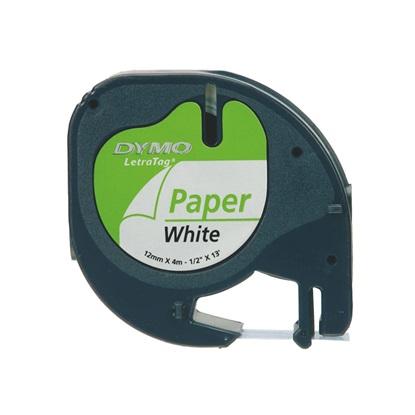 Ταινία Ετικετογράφου Dymo Letratag Paper tape white 12mm x 4 m 91220 (S0721520)