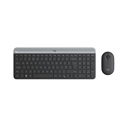 Logitech MK470 Slim Wireless Combo Graphite,US International (Qwerty) (920-009204) (LOGMK470GRPH)