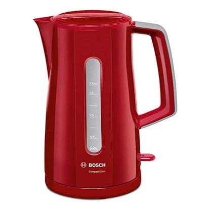 Bosch Βραστήρας 2400W 1.7lt Κόκκινο (TWK3A014)