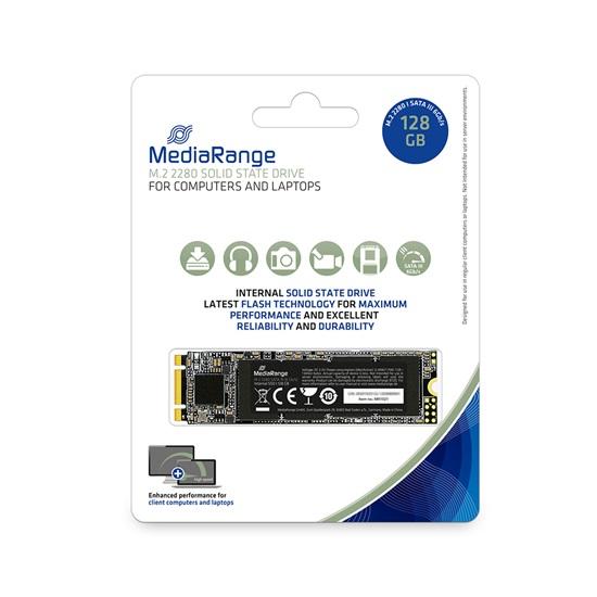 MediaRange Internal M.2 2280 solid state drive, SATA 6 Gb/s, 128GB (MR1021)