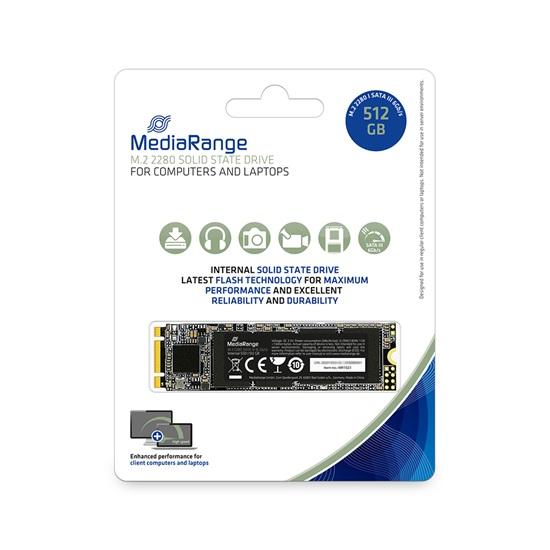 MediaRange Internal M.2 2280 solid state drive, SATA 6 Gb/s, 512GB (MR1023)