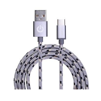 Garbot Grab&Go USB cable 1 m USB A USB C Silver (C-05-10192) (GARC-05-10192)