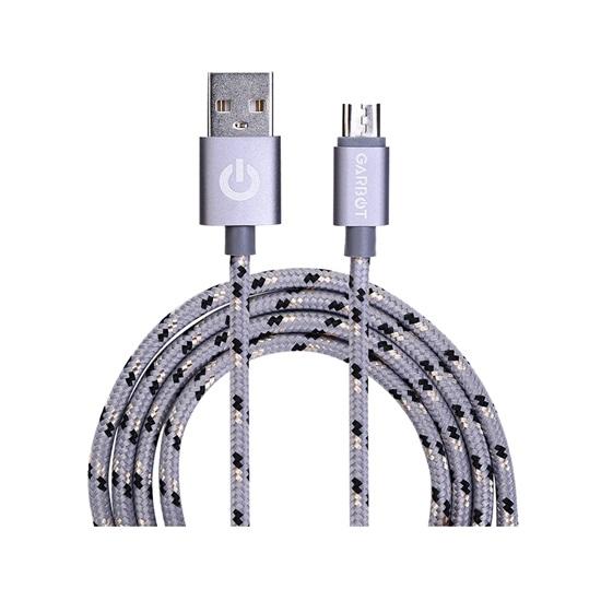 Garbot Grab&Go USB cable 1 m USB A Micro-USB B Silver (C-05-10195) (GARC-05-10195)