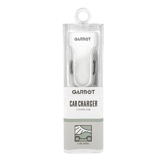Garbot Grab&Go mobile device charger White Auto (C-05-10201) (GARC-05-10201)