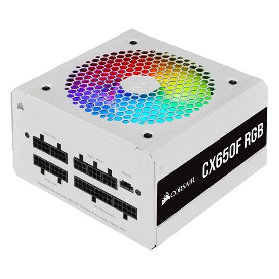 Corsair Τροφοδοτικό CX650F RGB White 650 Watt 80 Plus Bronze Fully Modular RGB (CP-9020226-EU)