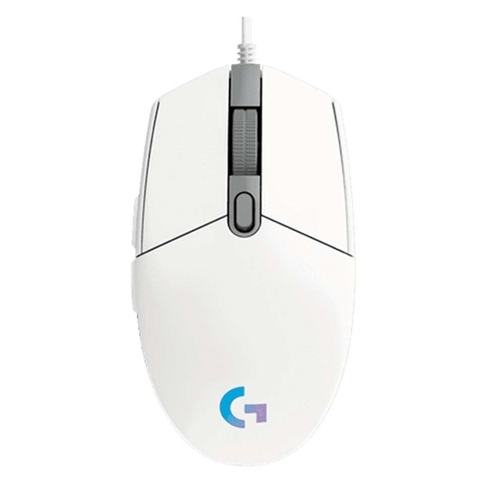 Logitech Gaming Mouse G102 LightSync RGB White (910-005824) (LOGG102WH)