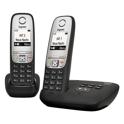 Ασύρματο Τηλέφωνο Gigaset A415A DECT telephone Duo Black (L36852-H2525B101) (GGSL36852-H2525B101)