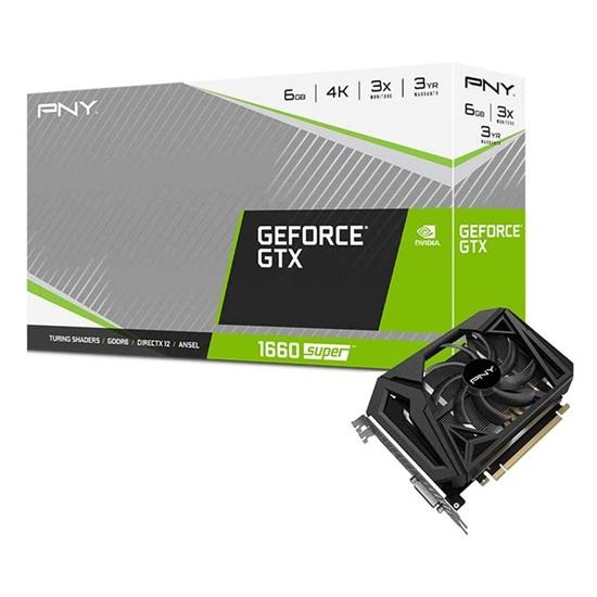 VGA PNY GeForce GTX 1660 Super 6GB Single Fan (VCG16606SSFPPB) (PNYVCG16606SSFPPB)