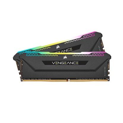 Corsair RAM VENGEANCE RGB PRO SL 16GB (2x8GB) DDR4 3600MHz C18 Memory Kit – Black (CMH16GX4M2Z3600C18) (CORCMH16GX4M2Z3600C18)
