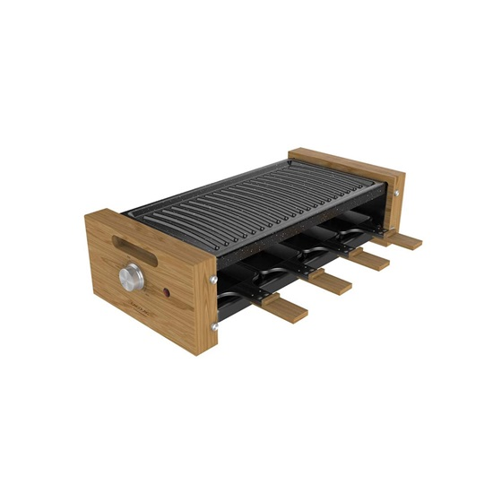 Ηλεκτρική Ψησταριά Cecotec Raclette Cheese & Grill 8200 Wood Black (CEC-03090) (CEC03090)