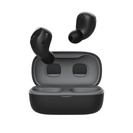 Trust Nika Compact Bluetooth Wireless Earphones - black (23555) (TRS23555)