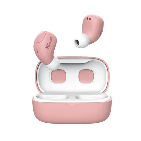 Trust Nika Compact Bluetooth Wireless Earphones - pink (23905) (TRS23905)