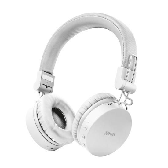 Trust Tones Bluetooth Wireless Headphones - white (23909) (TRS23909)