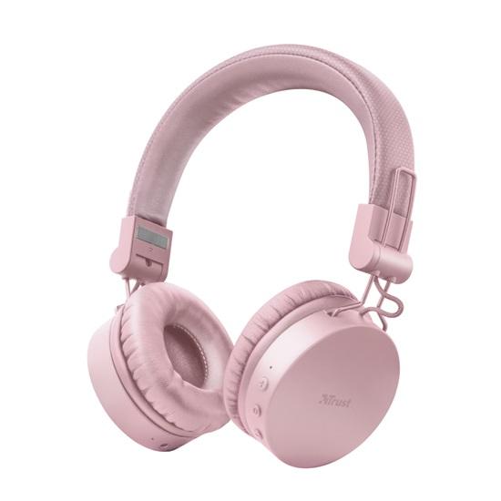 Trust Tones Bluetooth Wireless Headphones - pink (23910) (TRS23910)