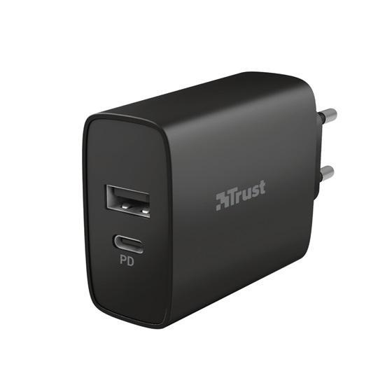 Trust Qmax 30W Ultra-Fast USB-C & USB Wall Charger with PD (23558) (TRS23558)