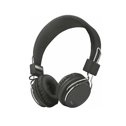 Trust Ziva Foldable Headphones for smartphone and tablet - black (21821) (TRS21821)