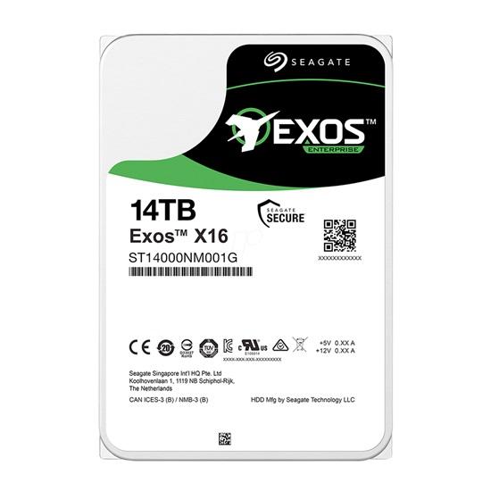 Εσωτερικός Σκληρός Δίσκος SEAGATE 3.5'' 14TB Exos X16 SATA 6 Gb/s (ST14000NM001G) (SEAST14000NM001G)