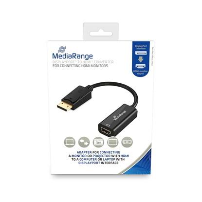 Καλώδιο MediaRange HDMI™ High Speed to DisplayPort™ converter, gold-plated, HDMI socket/DP plug, 10 Gbit/s data transfer rate, 15cm, black (MRCS175)
