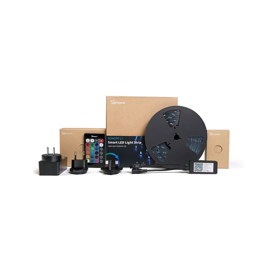 Sonoff Αδιάβροχη Ταινία LED Σετ με Τηλεχειριστήριο SMD5050 12V RGB 5m (SNF-L1-5M) (SONSNF-L1-5M)
