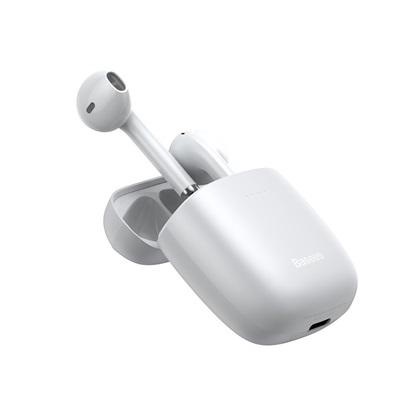 Baseus W04 Earbud Bluetooth Handsfree White (NGW04-02) (BASNGW04-02)