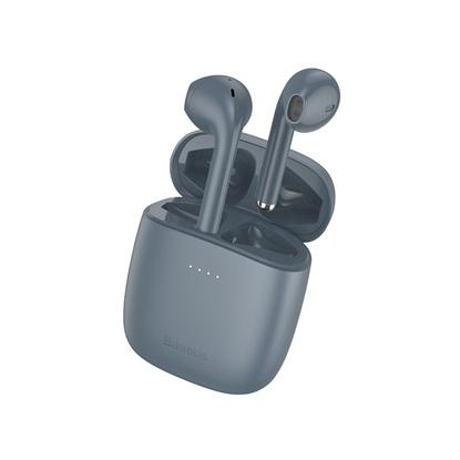 Baseus W04 Pro Earbud Bluetooth Handsfree Γκρι (NGW04P-0G) (BASNGW04P0G)