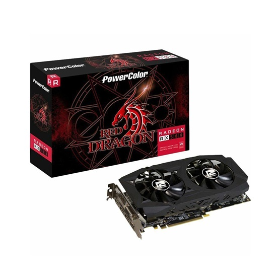 VGA PowerColor Red Dragon Radeon RX 580 8GB GDDR5 (AXRX5808GBD5-DHDV2/OC) (PCLAXRX5808GBD5-DHDV2/OC)