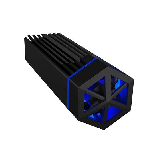 RaidSonic ICY BOX USB Type-C enclosure for M.2 NVMe SSD with RGB illumination (IB-1823MF-C31) (RSCIB-1823MF-C31)