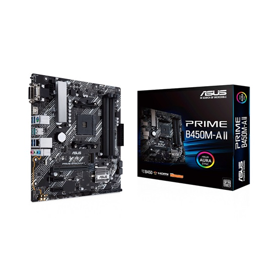 ASUS PRIME B450M-A II (AM4) micro ATX motherboard (90MB15Z0-M0EAY0) (ASU90MB15Z0-M0EAY0)
