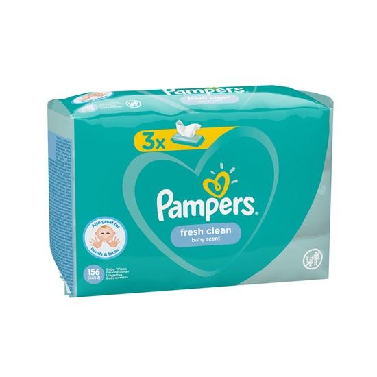 Pampers Fresh Clean 3 Packs 156τμχ (3PACKS156) (PAM3PACKS156)