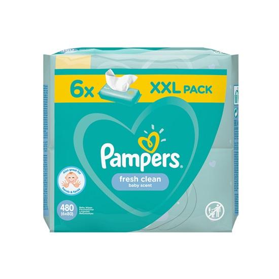 Pampers Fresh Clean 6 Packs 6x80τμχ (6PACKS480) (PAM6PACKS480)