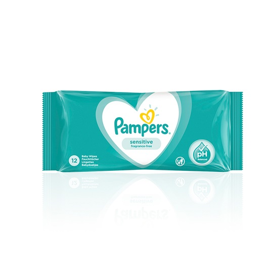 Pampers Sensitive 12τμχ (1PACK12) (PAM1PACK12)