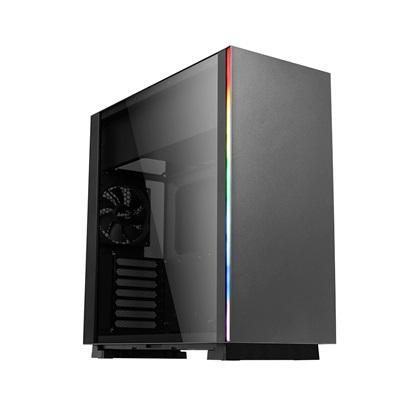 Aerocool Glo Midi-Tower Black (AEROPGSGLO-BK-RGB)