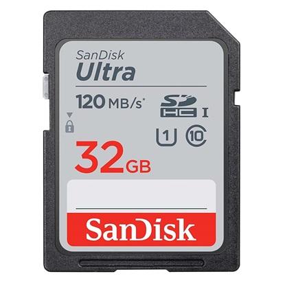 Sandisk Ultra® SDHC & SDXC UHS-I Memory Card 32GB (SDSDUN4-032G-GN6IN) (SANSDSDUN4-032G-GN6IN)