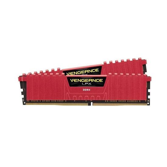 Corsair VENGEANCE LPX 16GB (2 x 8GB) DDR4 DRAM 2666MHz C16 Memory Kit Red (CMK16GX4M2A2666C16R)