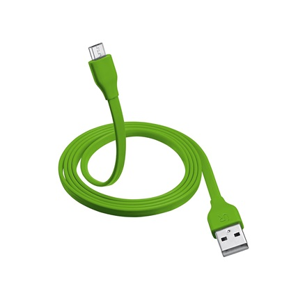 Trust Flat Micro-USB Cable 1m - lime green (20138) (TRS20138)
