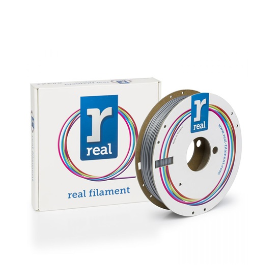 REAL PLA 3D Printer Filament - Satin Silver - spool of 0.05Kg - 1.75mm (REFPLASATINSILVER500MM175)