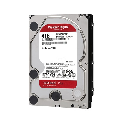 "Western Digital Red Plus NAS Hard Drive 4TB 3.5"" (CMR) (WD40EFZX)"