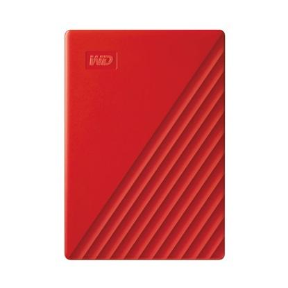 Western Digital My Passport 2TB External USB 3.2 Gen 1 Portable Hard Drive (Red) (WDBYVG0020BRD-WESN)