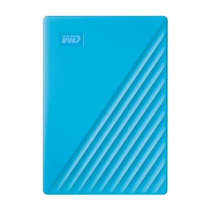 Western Digital My Passport 2TB External USB 3.2 Gen 1 Portable Hard Drive (Blue) (WDBYVG0020BBL-WESN)